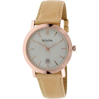 Bulova Men's 97B144 Beige Leather Quartz Watch