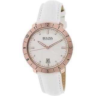 Bulova Men's Accutron Ii 97B128 White Leather Quartz Watch