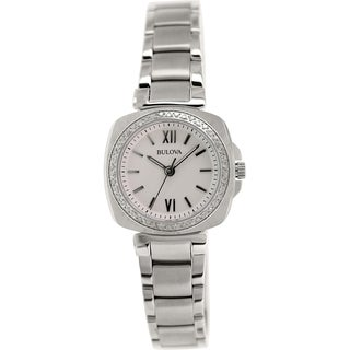 Bulova Women's Diamond 96R200 Stainless Steel Quartz Watch