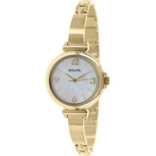 Bulova Women's Classic 97L136 Gold Stainless Steel Quartz Watch