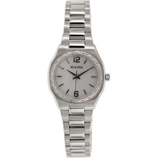 Bulova Women's Diamond 96R199 Stainless Steel Quartz Watch|https://ak1.ostkcdn.com/images/products/9762446/P16933774.jpg?impolicy=medium