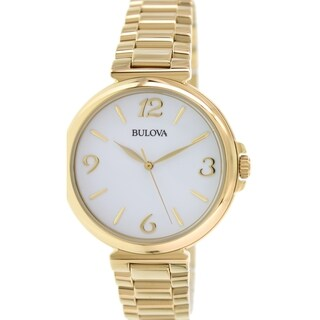 Bulova Women's Classic 97L139 Gold Stainless Steel Quartz Watch