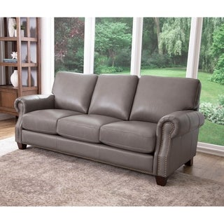 Abbyson Landon Top Grain Leather Sofa