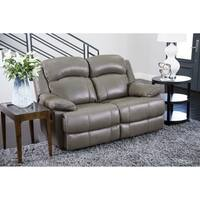 Abbyson Clarence Top Grain Leather Reclining Loveseat