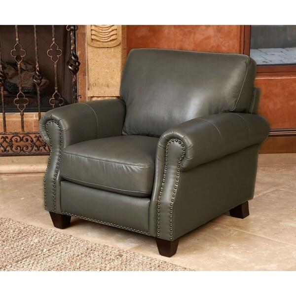 Beautiful Abbyson Landon Top Grain Leather Armchair