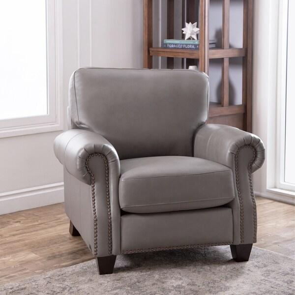 Beau Abbyson Landon Top Grain Leather Armchair