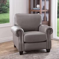 Abbyson Landon Top Grain Leather Armchair