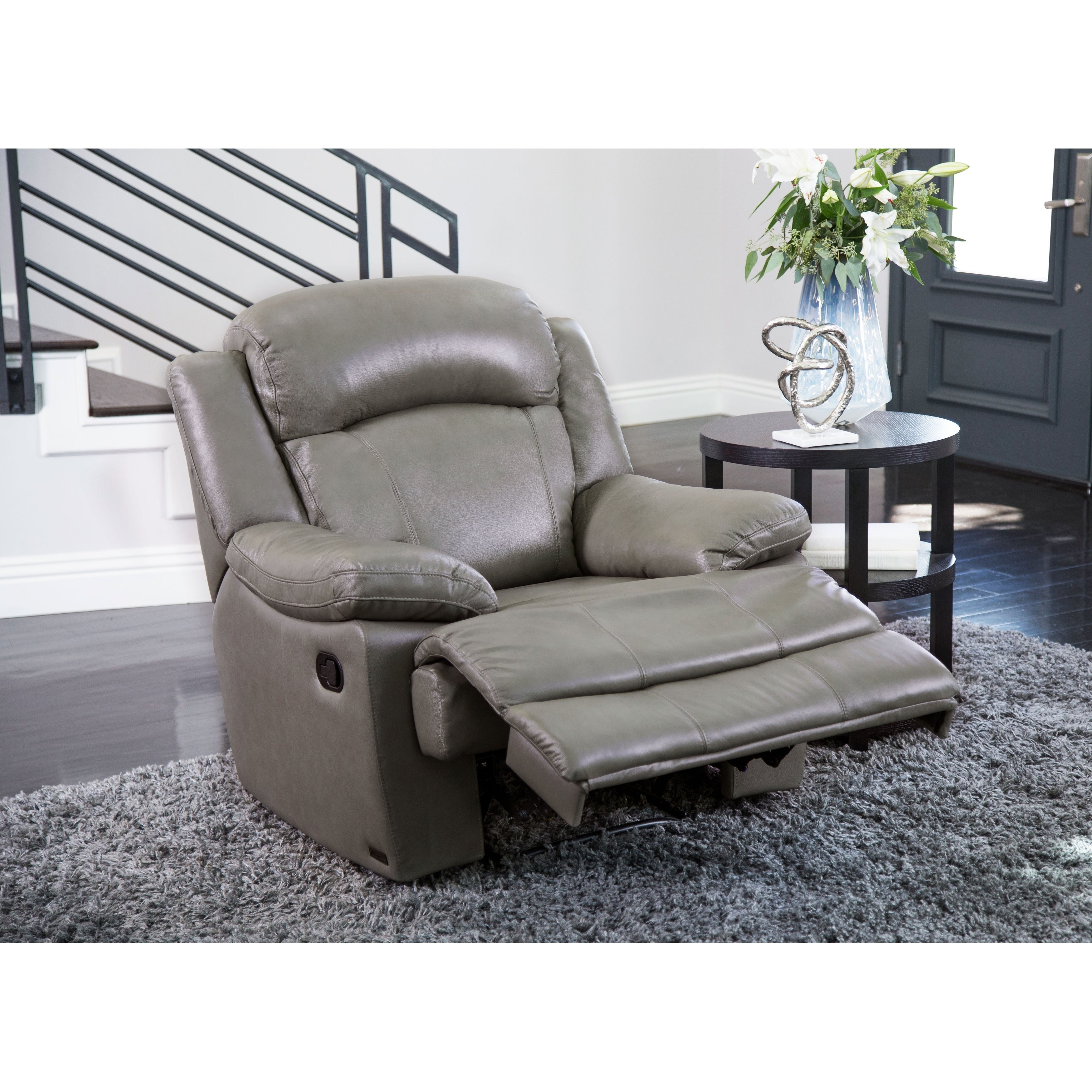 Magnificent Abbyson Clarence Top Grain Leather Recliner Gmtry Best Dining Table And Chair Ideas Images Gmtryco