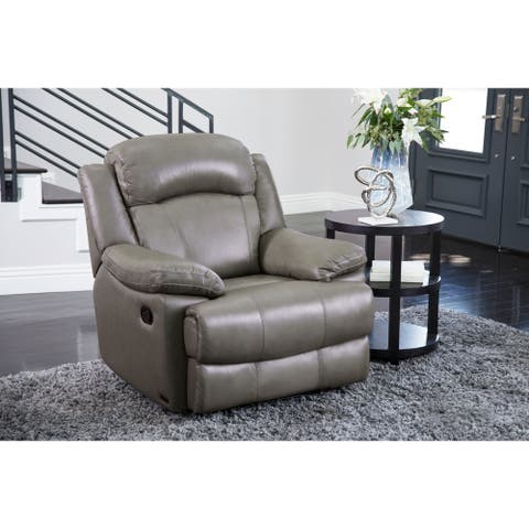 Abbyson Clarence Top Grain Leather Recliner