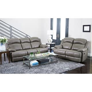 grey leather living room furniture. Abbyson Clarence Top Grain Leather Reclining 2 Piece Living Room Set  Option Grey Furniture Sets For Less Overstock com
