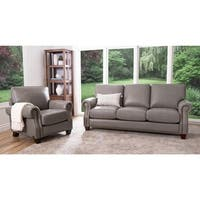 Abbyson Landon Top Grain Leather Sofa And Loveseat Free Shipping Today 16933832