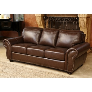 Abbyson Living Bellavista Top Grain Leather Sofa