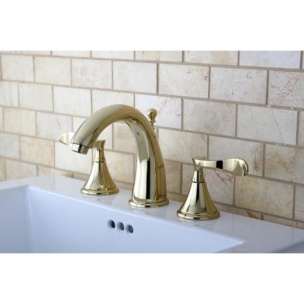 Shop Modern Polished Brass Widespread Bathroom Faucet Free