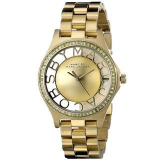 Marc Jacobs Women's MBM3338 Henry Skeleton Gold Watch