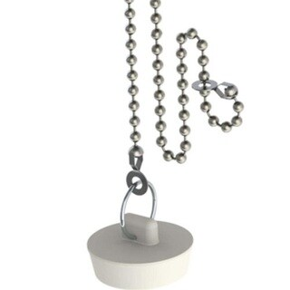 Drain Stopper with Faucet Tether Chain - Universal For Drains up to 1-1/2-inches