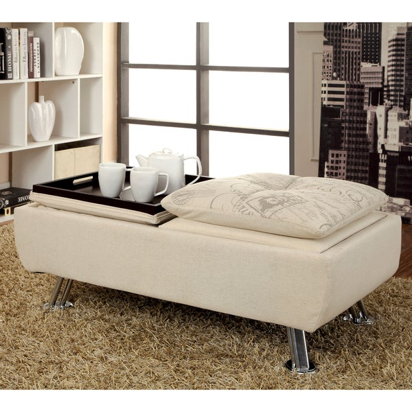 Lovely Furniture Of America Aubreth Modern Storage Ottoman