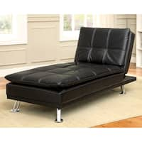 Furniture of America Aubreth Modern Convertible Chaise