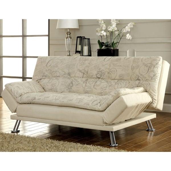 Shop Aubreth Modern Futon Sofa by FOA - Free Shipping Today ...