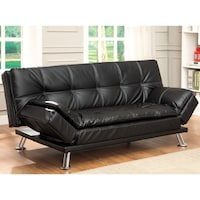 metal frame contemporary city futon state big coaster street santa futons in barbara b