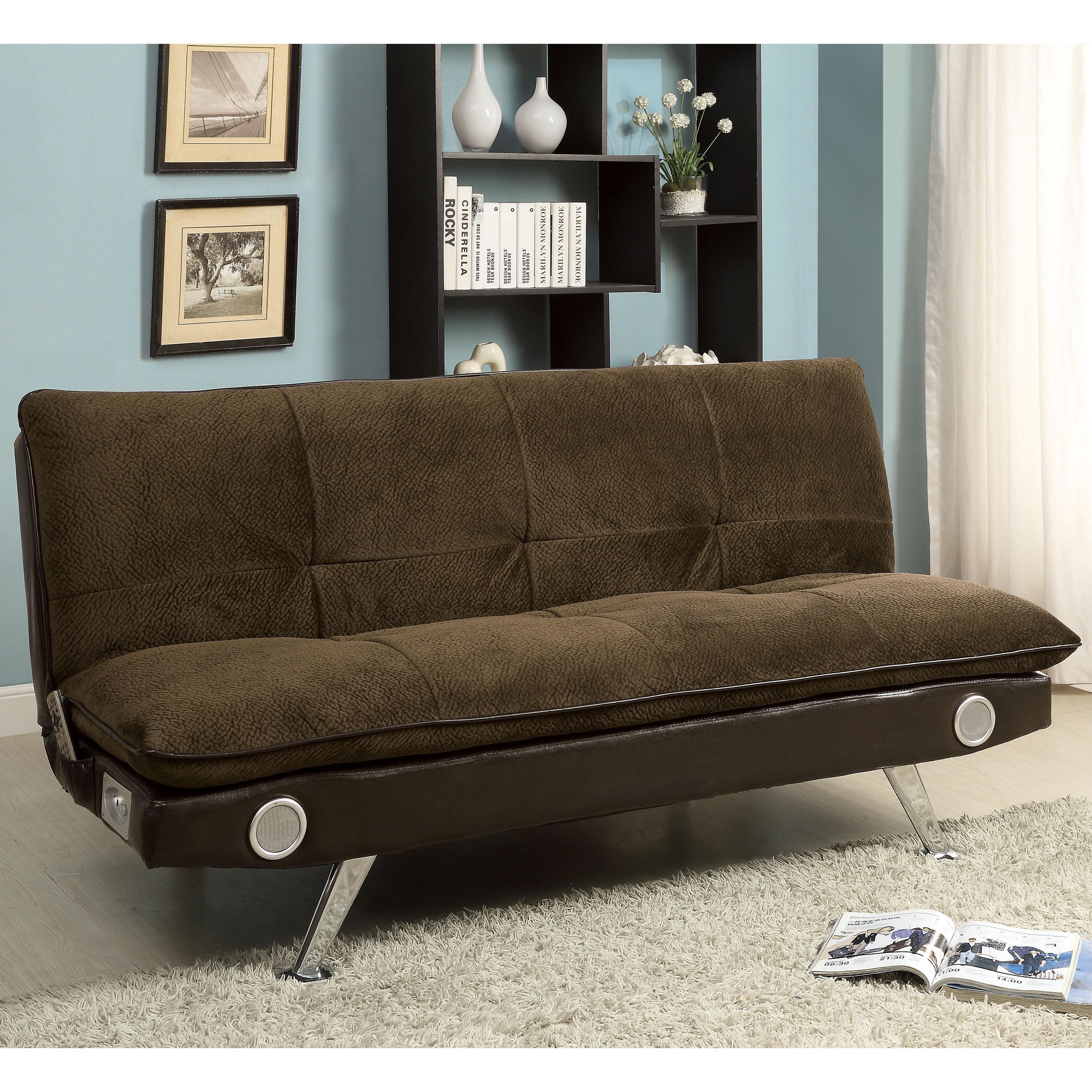 Furniture of America Thrain Modern 2-Tone Futon Sofa with...