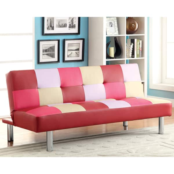 Peachy Shop Furniture Of America Galariel Romantic Checkered Pink Andrewgaddart Wooden Chair Designs For Living Room Andrewgaddartcom
