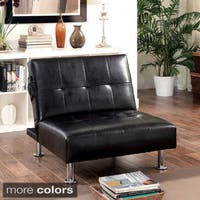 Clay Alder Home Antioch Modern Tufted Convertible Chair with Storage Pockets