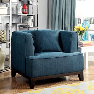 Furniture of America Wees Modern Fabric Tuxedo Arm Chair