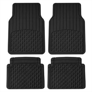 FH Group Black Heavy Duty 4-piece Rubber Car Floor Mat