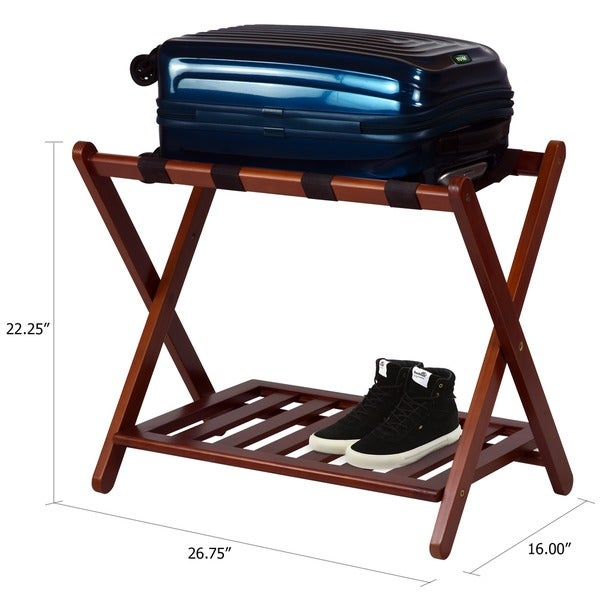 hotelstyle luggage rack with shelf free shipping on orders over 45