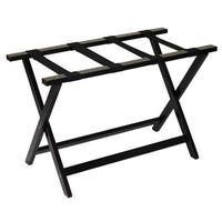 Brown Wood Heavy-duty Extra-wide 30-inch Luggage Rack