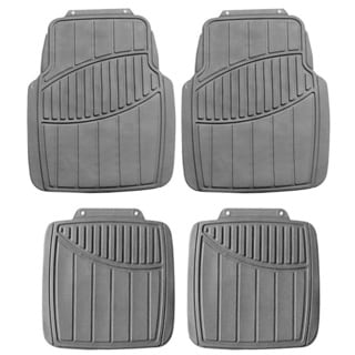 FH Group Gray Heavy Duty 4-piece Rubber Car Floor Mat