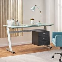 Beta Computer Desk with Filing Cabinet by Christopher Knight Home