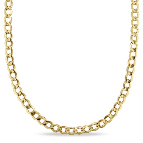 Miadora 10k Yellow Gold Men's 20 Inch Curb Link Necklace