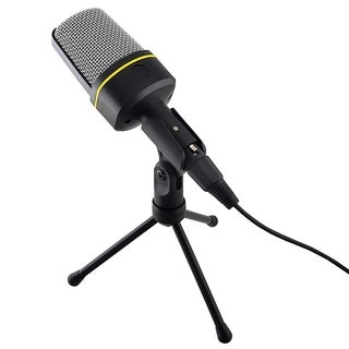INSTEN Skype Desktop Notebook 3.5mm Studio Speech Microphone With Stand and Cable