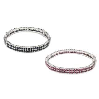 De Buman Sterling Silver Natural Ruby or Sapphire Bangle Bracelet|https://ak1.ostkcdn.com/images/products/9763066/P16934243.jpg?impolicy=medium