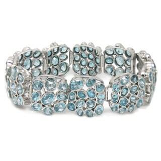De Buman Sterling Silver Natural Blue Zircon Bracelet