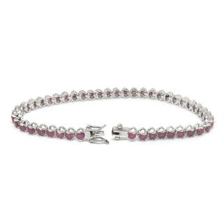 De Buman Sterling Silver Natural Ruby, Sapphire or Amethyst Bracelet|https://ak1.ostkcdn.com/images/products/9763070/P16934246.jpg?impolicy=medium