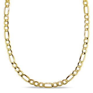Miadora 10k Yellow Gold Men's 20 Inch Figaro Link Necklace
