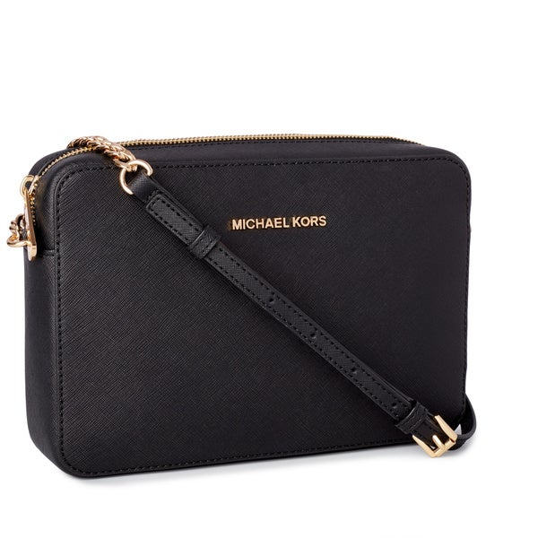4597d8da4b9b8 Shop Michael Kors Jet Set Travel Large East  West Black Crossbody ...