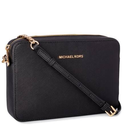 Michael Kors Jet Set Travel Large East/ West Black Crossbody Handbag