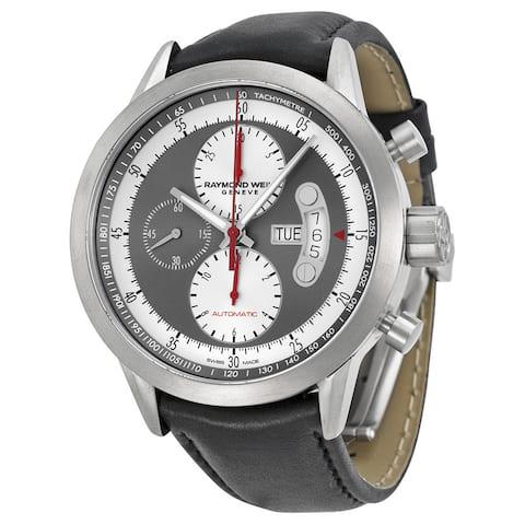 Raymond Weil Men's 7745-TIC-05659 'Freelancer' Chronograph Automatic Grey Leather Watch