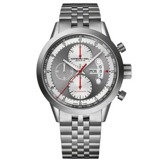 Raymond Weil Men's 7745-TI-05659 'Freelancer' Chronograph Automatic Grey Stainless Steel Watch