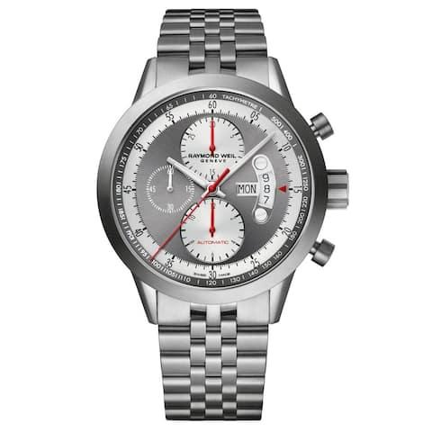 Raymond Weil Men's 7745-TI-05659 'Freelancer' Chronograph Automatic Grey Stainless Steel Watch