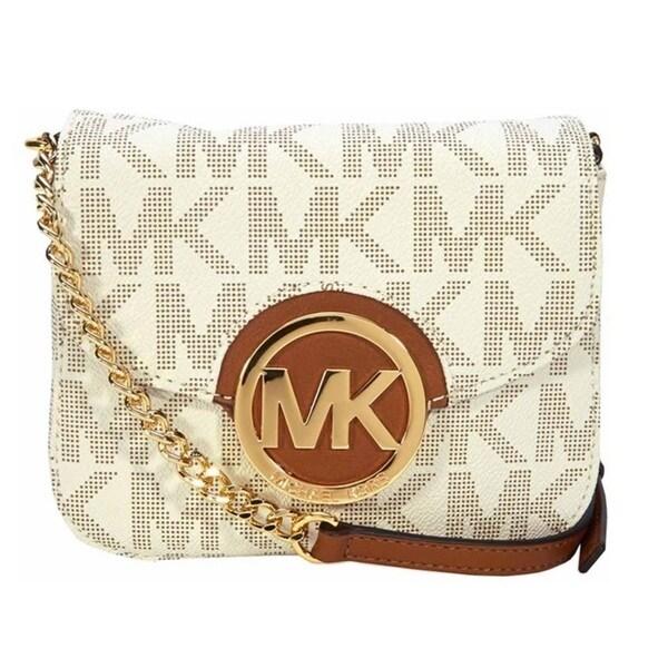 Michael Kors Fulton Small Vanilla Logo Crossbody Handbag