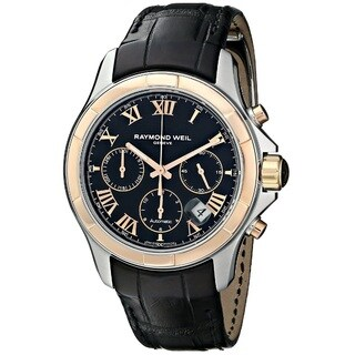 Raymond Weil Men's 7260-SC5-00208 'Parsifal' Chronograph Automatic Black Leather Watch
