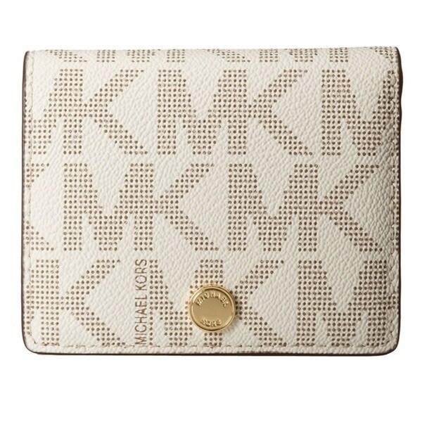 ed8bb36ee42e Shop MICHAEL Michael Kors Jet Set Travel Flap MK Signature Wallet ...