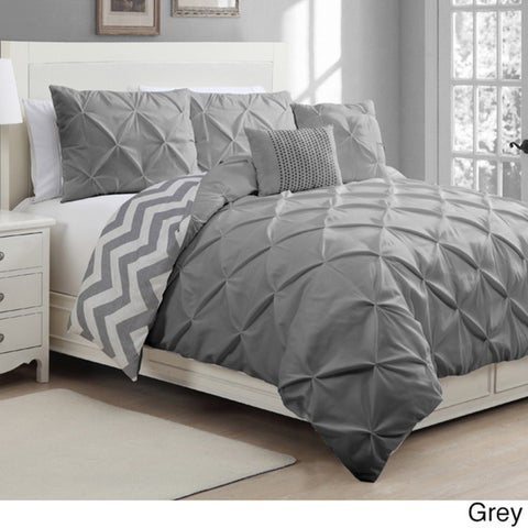 Porch & Den Cloverleaf Reversible 5-piece Duvet Cover Set