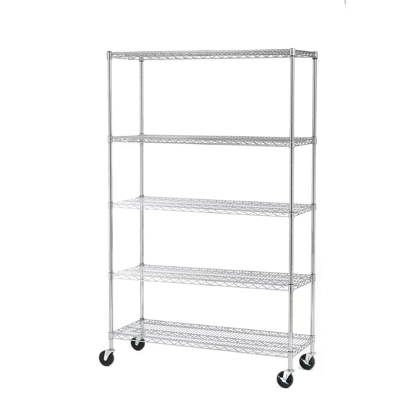 seville classics 5-shelf ultrazinc steel wire shelving system - free shipping today
