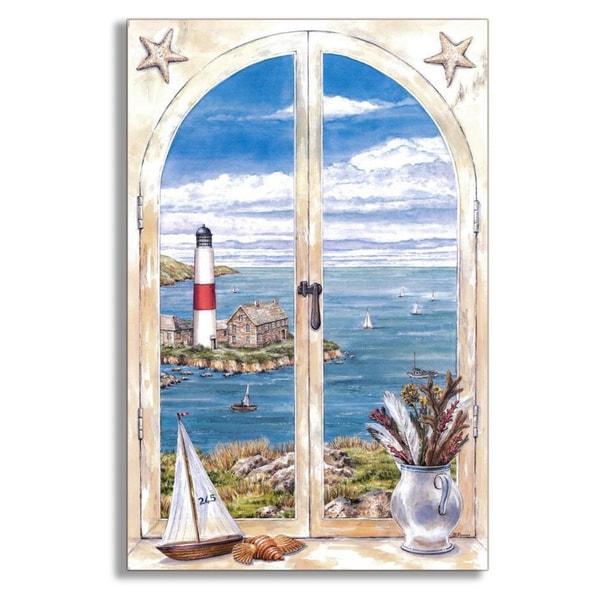 Montauk Lighthouse Faux Window Scene