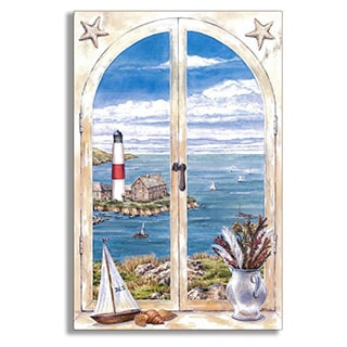 Montauk Lighthouse Faux Window Scene
